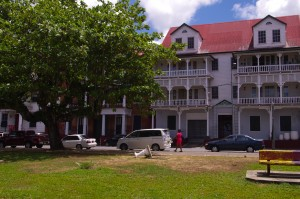 Dutch influence in Paramaribo